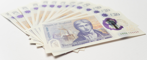 polymer £20 banknotes